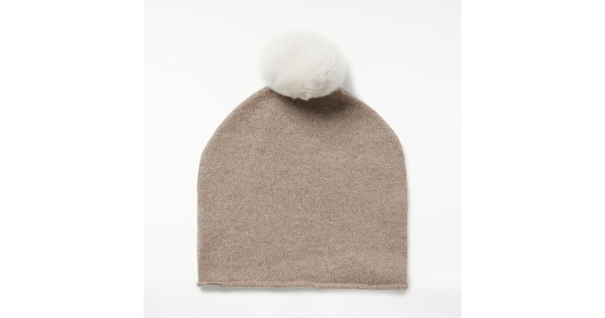 f5bd575e86f81 John Lewis Cashmere Bobble Beanie Hat - Lyst