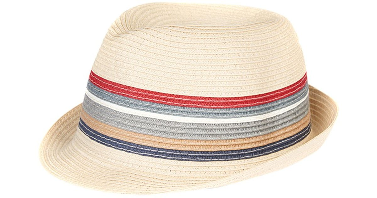 e42a5039 Barbour Stripe Trilby Hat in Gray for Men - Lyst