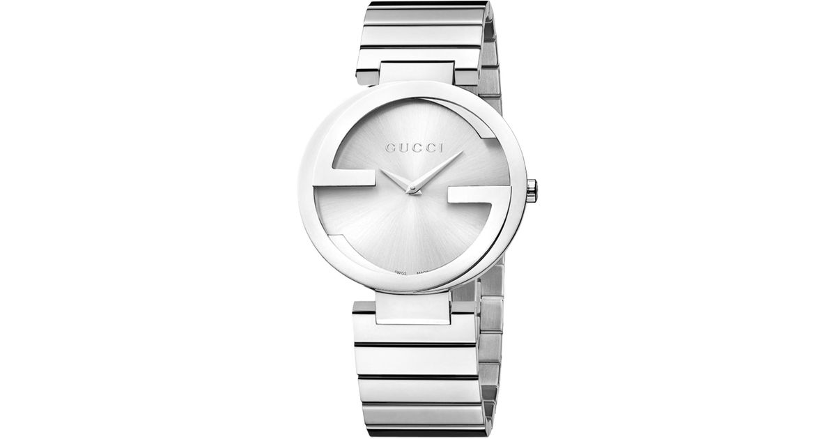20a6eea639d Gucci Ya133307 Women s Interlocking G Bracelet Strap Watch in Metallic -  Lyst