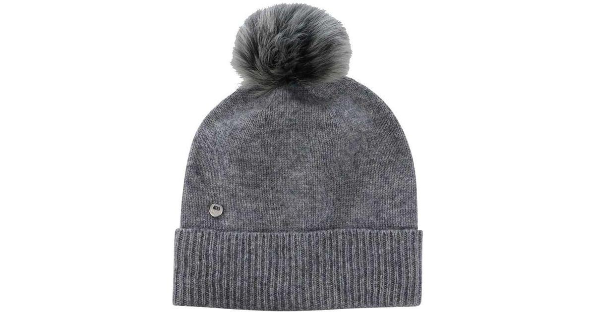 85e690acd5139 Ugg Luxe Toscana Pom Pom Beanie Hat in Gray - Lyst