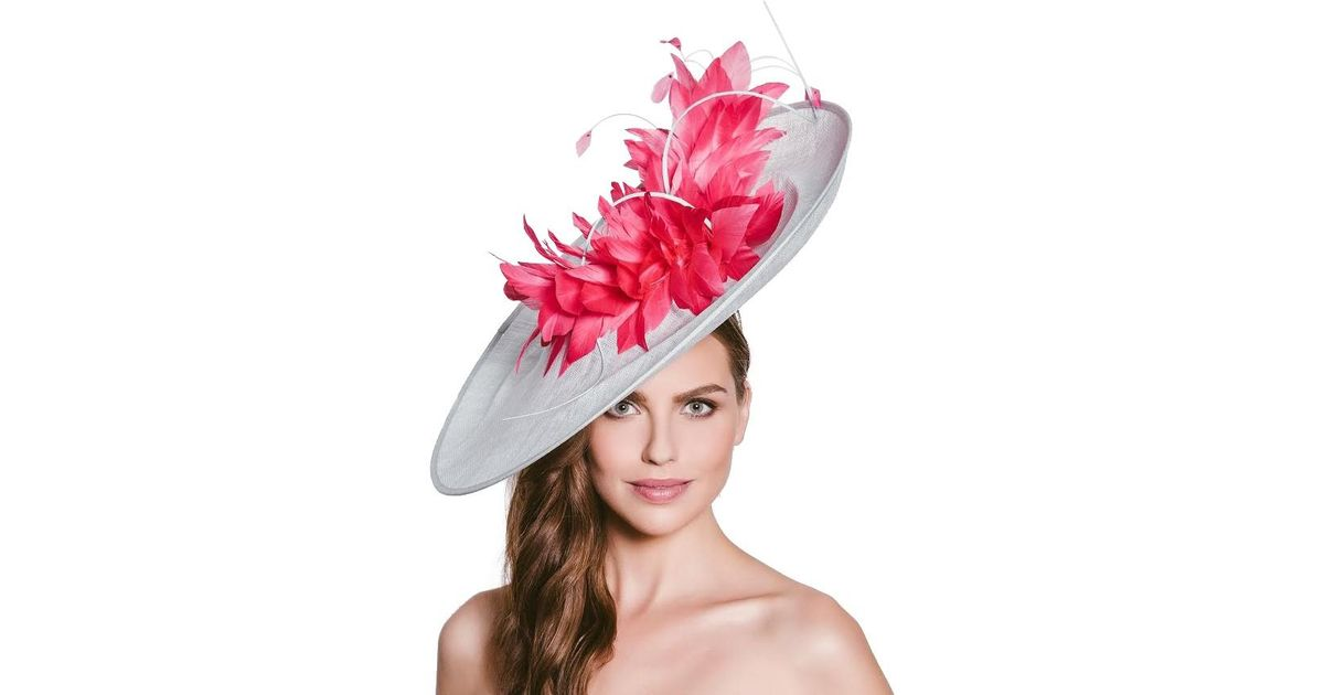 a66e1ac2d61 Vixen Millinery Ellie Disc And Feathers Occasion Hat - Lyst
