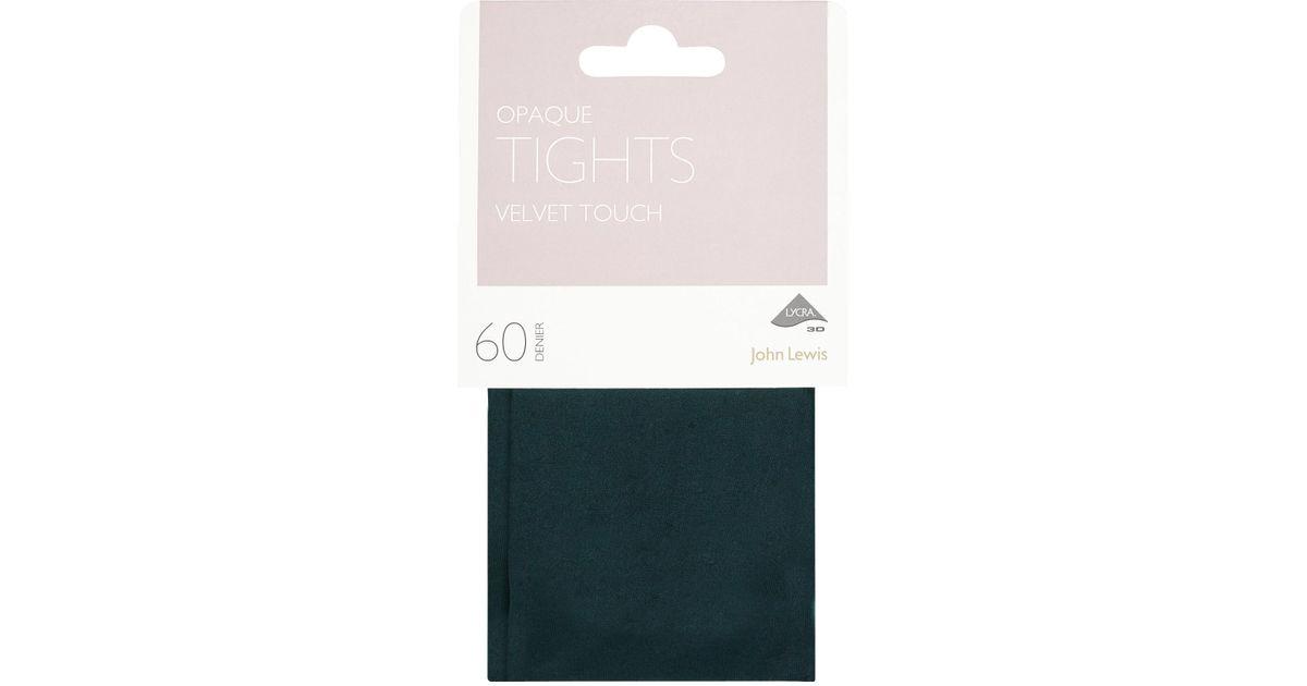 4df001107 John Lewis 60 Denier Velvet Touch Opaque Tights in Green - Lyst