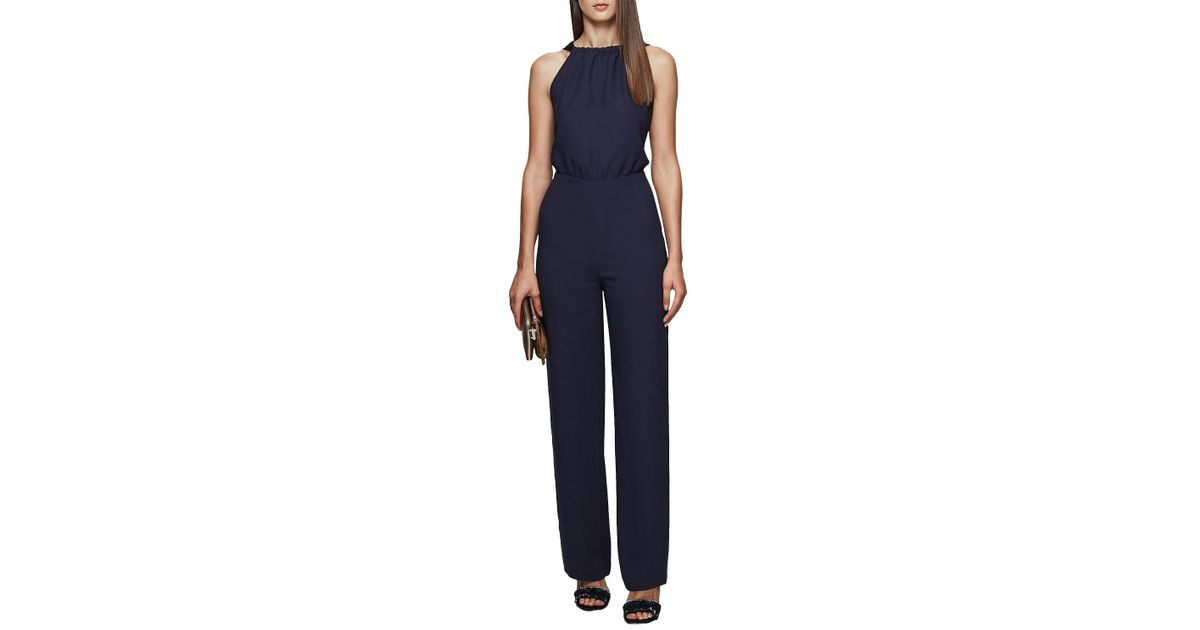 c37e0fb6fa3 Reiss Lolita Backless Bow Detail Jumpsuit in Blue - Lyst