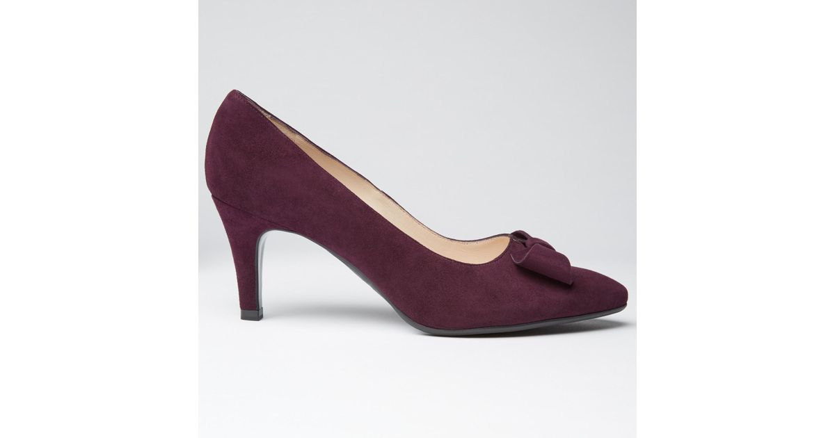 e5b6ca8263a Peter Kaiser Valona Bow Pointed Toe Court Shoes in Purple - Lyst