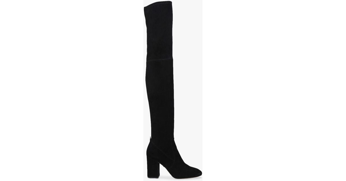 c64dad05f40c COACH Giselle Over The Knee Block Heel Boots in Black - Lyst