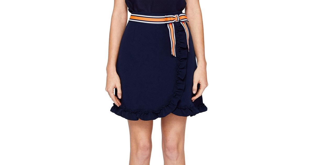 9e1377eba0 Ted Baker Xzenia Bow Mini Skirt in Blue - Lyst