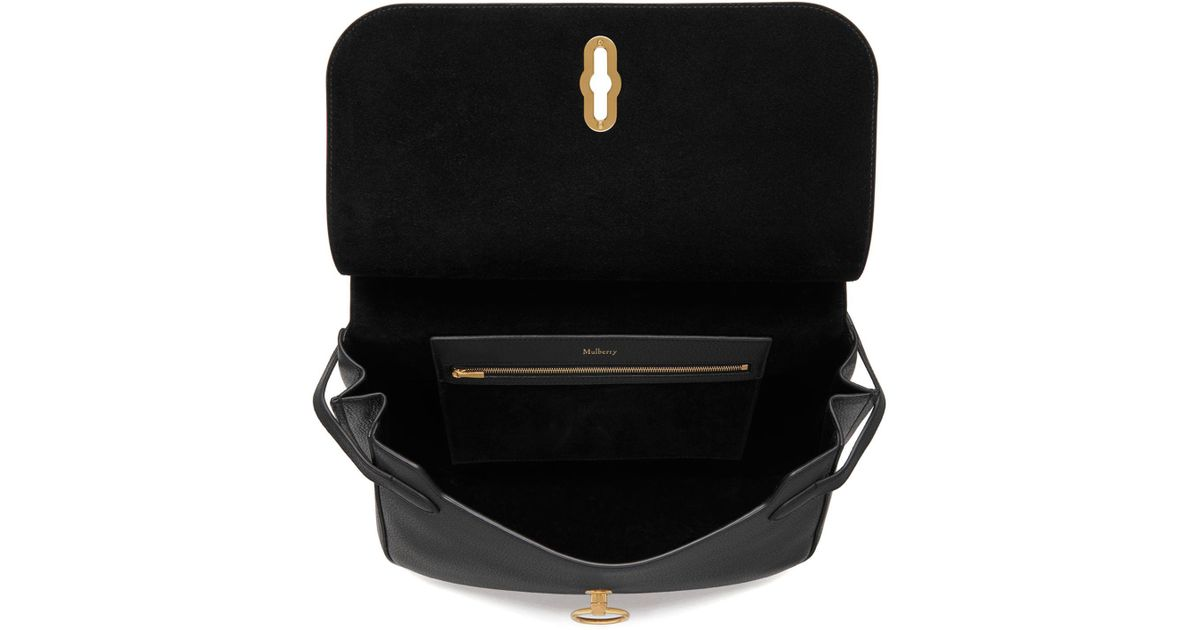 c6ea0097a9e ... shopping lyst john lewis mulberry amberley small classic grain leather  cross body bag in black 9072e