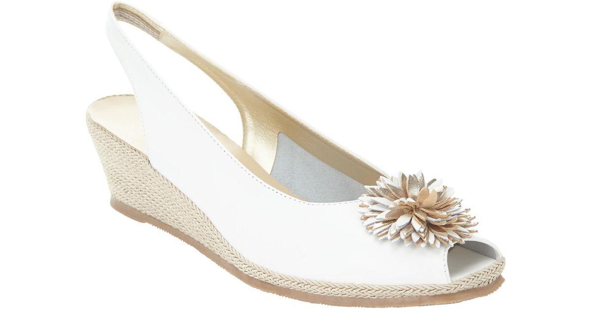 Lyst Heeled Wedge Lewis Rose 2 Flower John White Sandals E9WDH2I