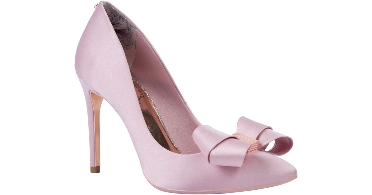 9b504611787 Ted Baker Skalett Stiletto Heel Bow Court Shoes in Pink - Lyst