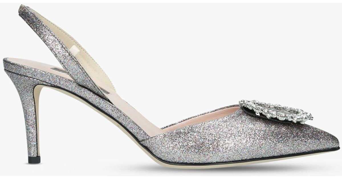 92ddc9b354a SJP by Sarah Jessica Parker Mabel Slingback Court Shoes in Metallic - Lyst
