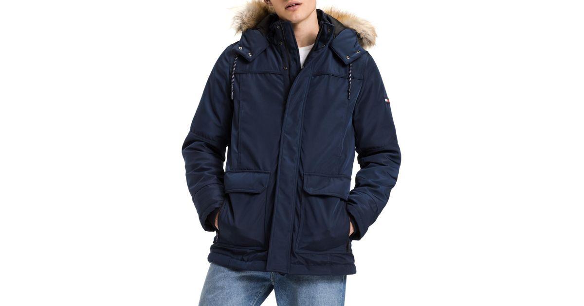 90060bed Tommy Hilfiger Hilfiger Denim Tech Parka Jacket in Blue - Lyst
