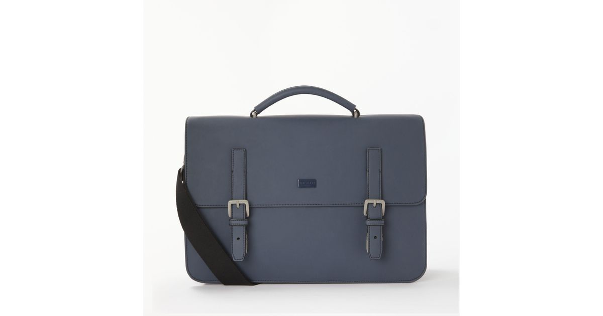 a222adb93 Ted Baker Eclip Rubber Satchel in Blue for Men - Lyst