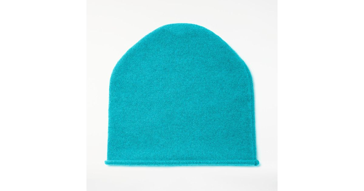 0514b329edff1 John Lewis Cashmere Roll Beanie Hat in Blue - Lyst