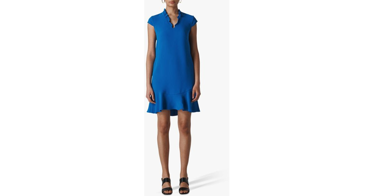 35cffdf544 Whistles Federica Crepe Dress in Blue - Lyst