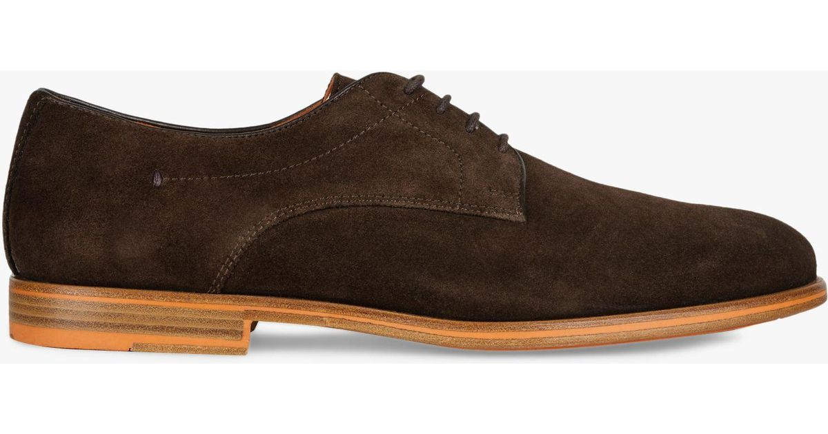 733eea8c5e Geox Bayle Suede Derby Shoes in Brown for Men - Lyst