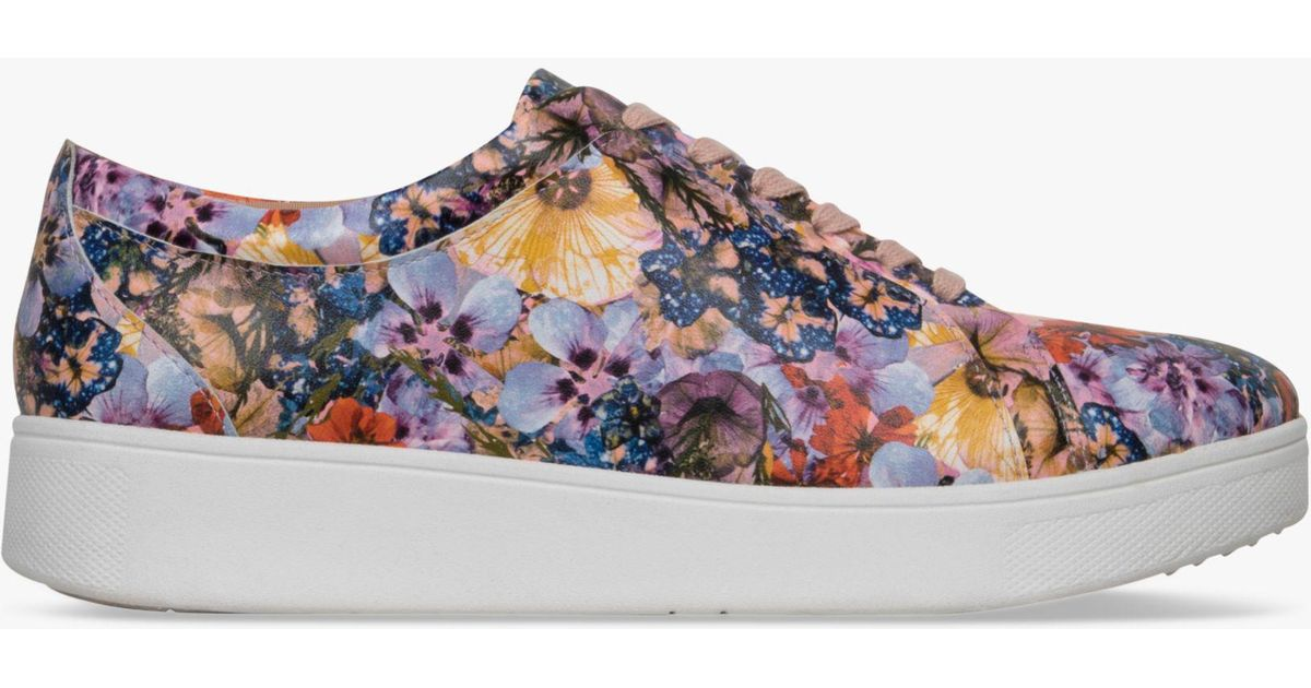 610cc7f4db3d Fitflop Rally Flowercrush Sneaker Oyster Pink - Lyst
