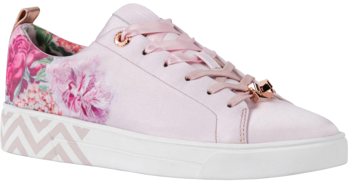 1568bbc14a590 Ted Baker Kelleit Low Top Trainers in Pink - Lyst