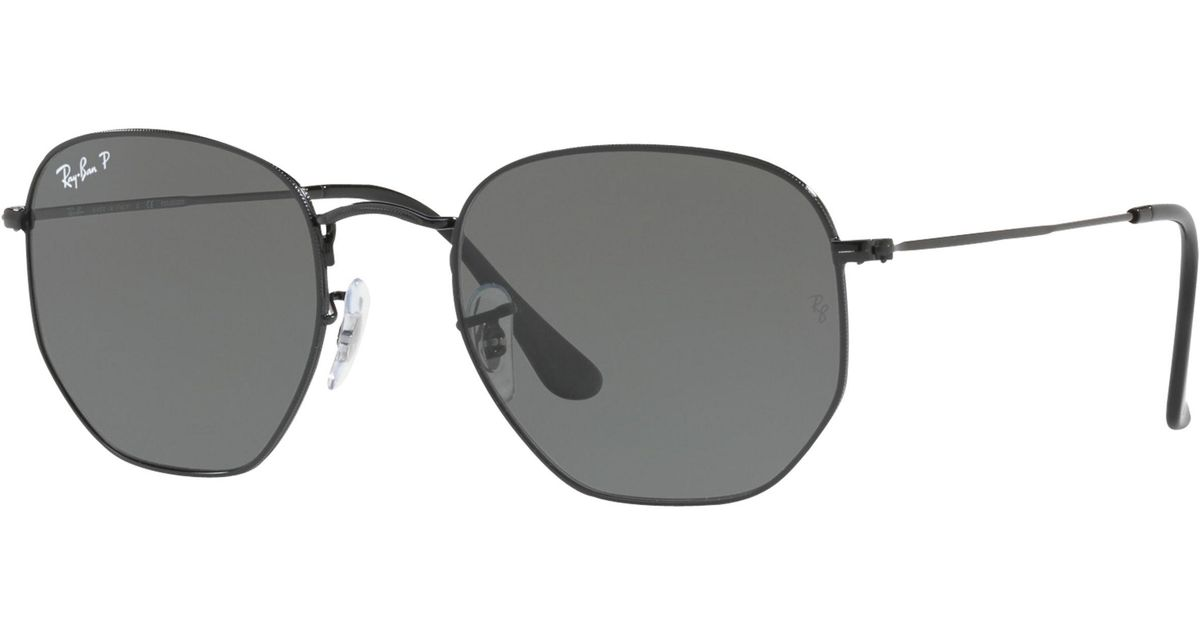 53f7aafc3b0 Ray-Ban Rb3548n Polarised Hexagonal Flat Lens Sunglasses in Gray for Men -  Lyst