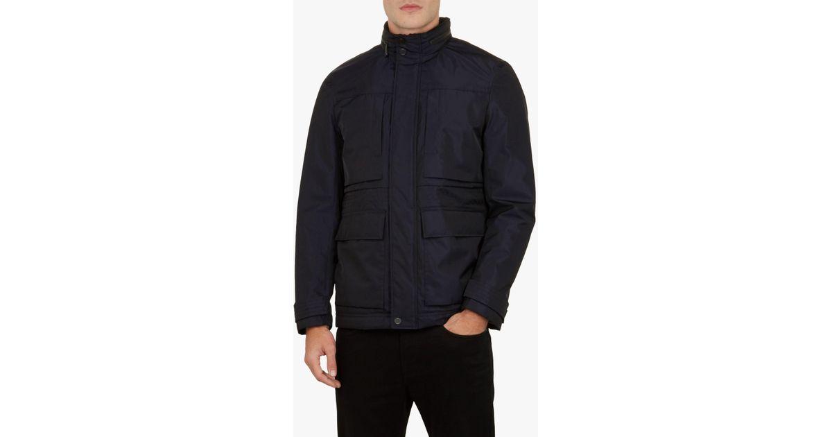 76e480f67ec6dc Ted Baker Oka Field Jacket in Blue for Men - Lyst
