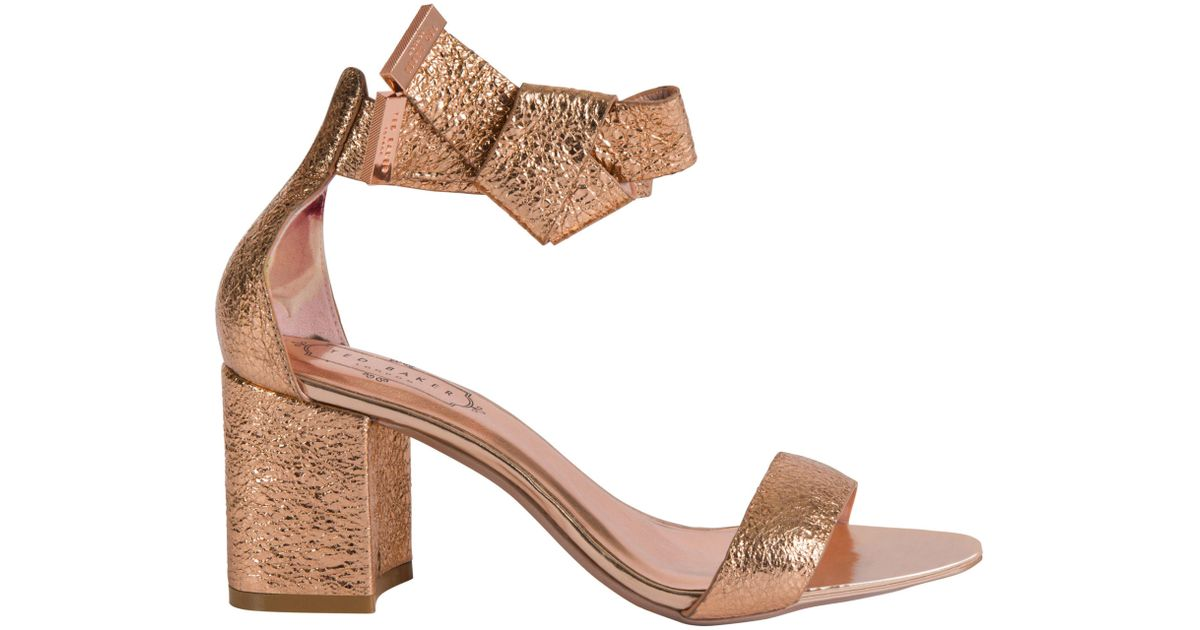 d17ada87d Ted Baker Kerria Block Heeled Sandals - Lyst