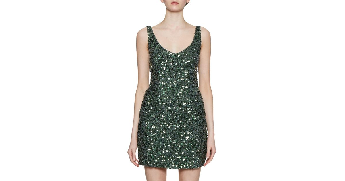 a42de9138a2b French Connection Helen Sparkle Strappy Dress in Green - Lyst