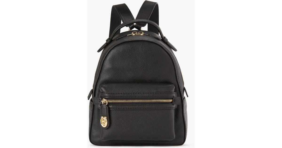 60c02f2b9572 COACH Campus 23 Pebble Leather Backpack in Black - Lyst