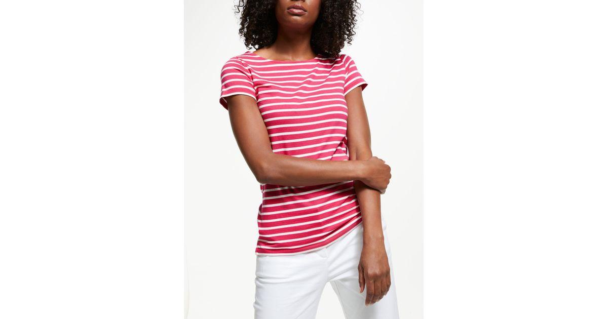 fb591a94d9 Boden Breton Short Sleeve T-shirt in Pink - Lyst