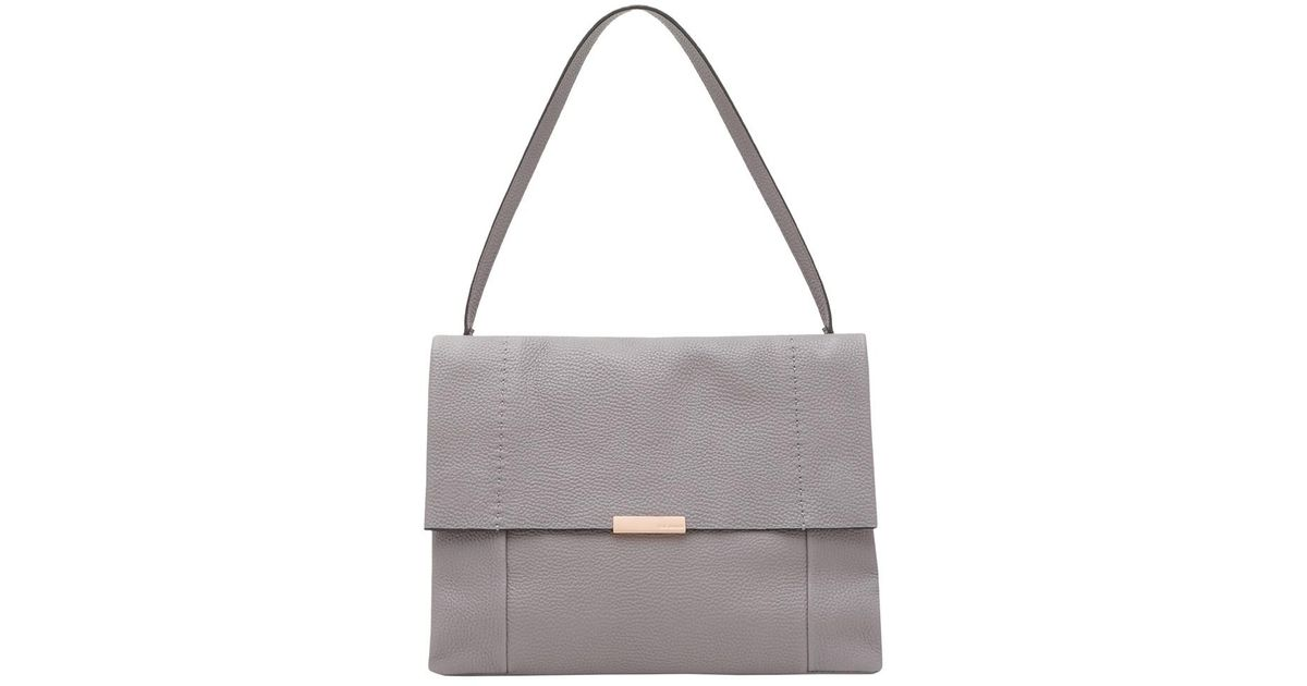 7feaacaac Ted Baker Proter Leather Shoulder Bag in Gray - Lyst