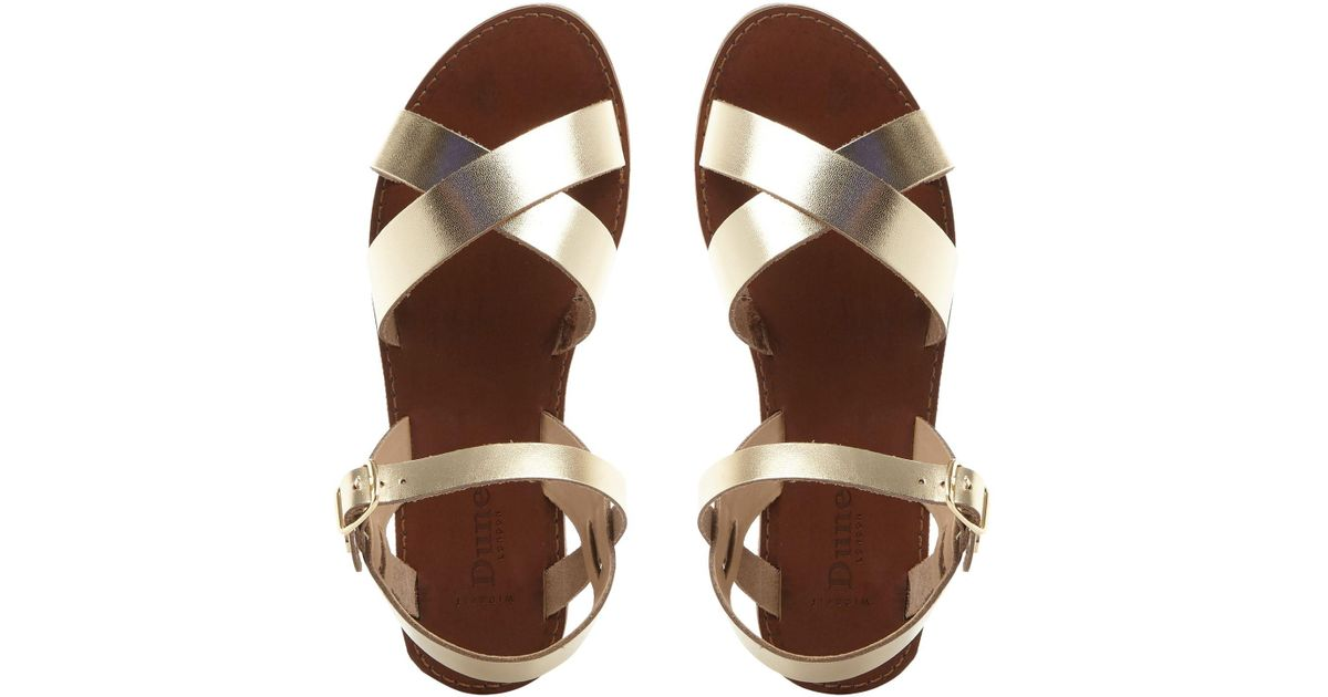 947d8f67d43571 John Lewis Dune Wide Fit Laila Sandals in Metallic - Lyst