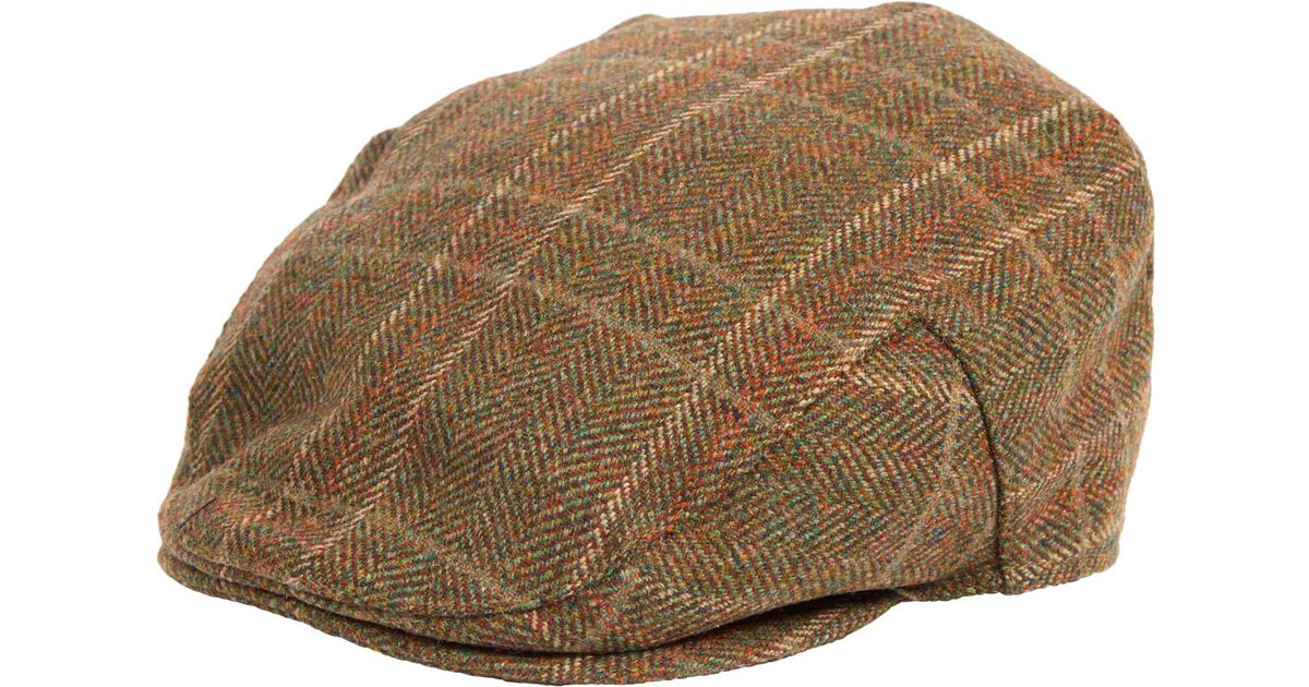 7d6f2cbc6ad Barbour Wool Crieff Flat Cap in Green for Men - Lyst