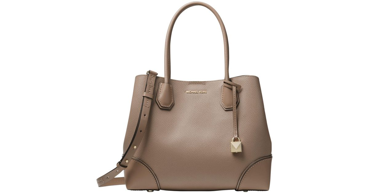 a72d3049591f Michael Kors Michael Mercer Gallery Medium Leather Tote Bag in Brown - Lyst