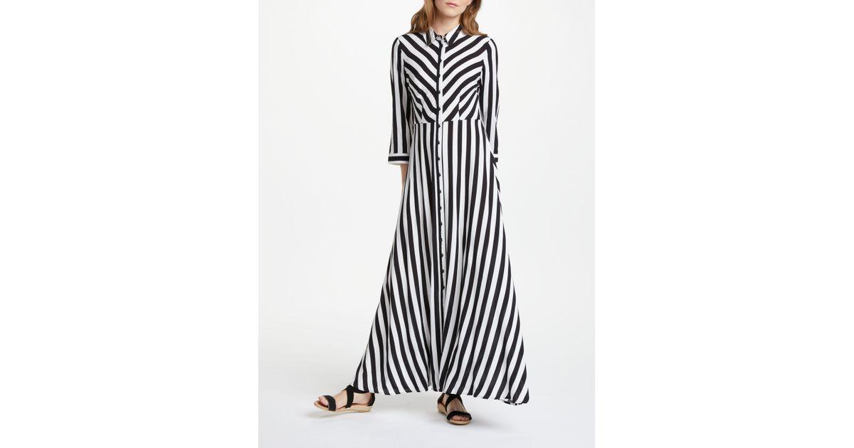 f6d088d5cd5676 Y.A.S Savanna Long Shirt Dress in Black - Lyst