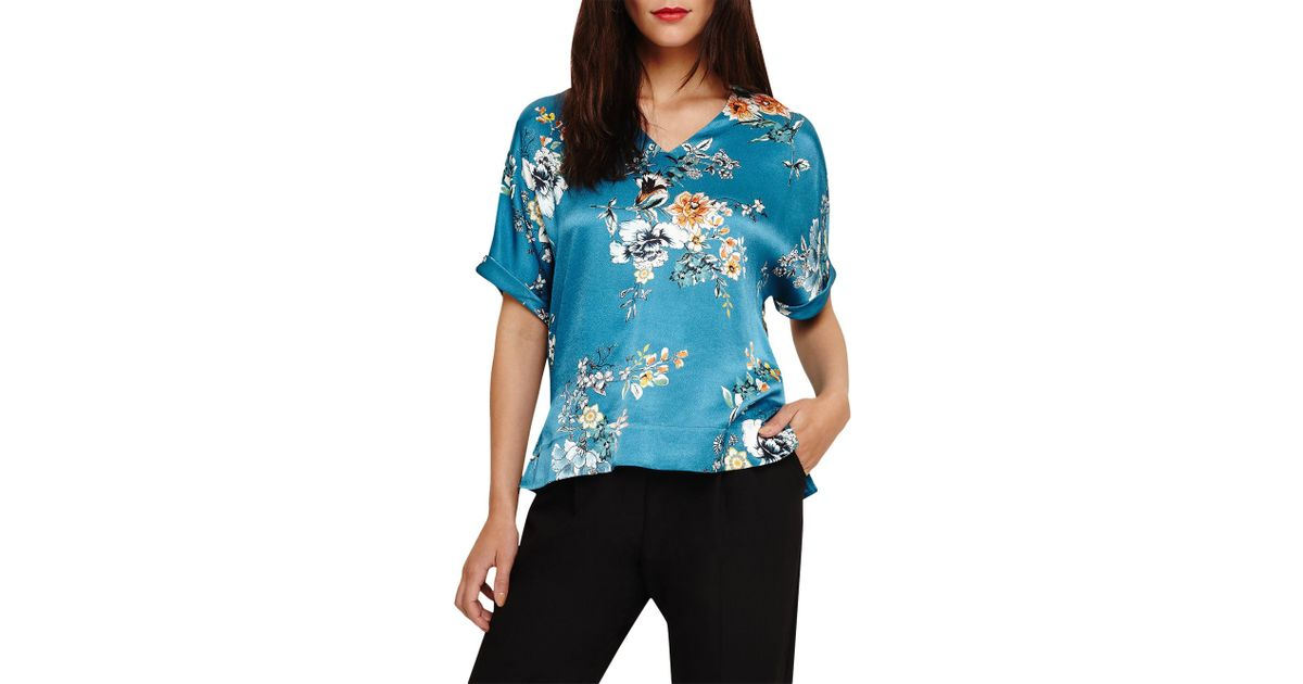 7cc5597763485c Phase Eight Zadie Floral Blouse in Blue - Lyst