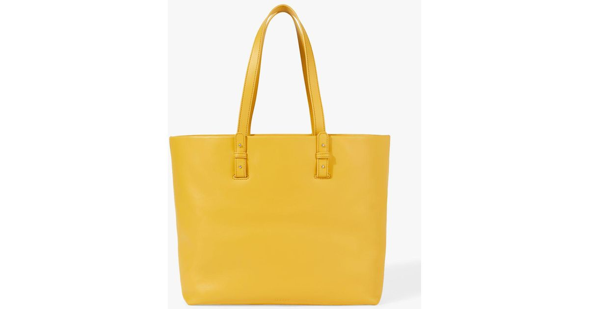 Jigsaw Bridget Leather Bag in Yellow - Lyst c1fd0c0f0181a