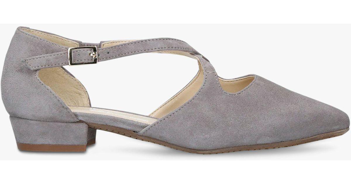 ac7bb8ba48e Carvela Kurt Geiger Comfort Amour Low Heel Court Shoes - Lyst