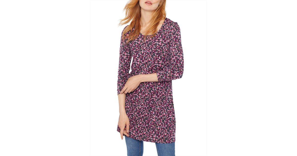 d47d64c47cc Joules Kirsten Jersey Tunic Dress in Purple - Lyst
