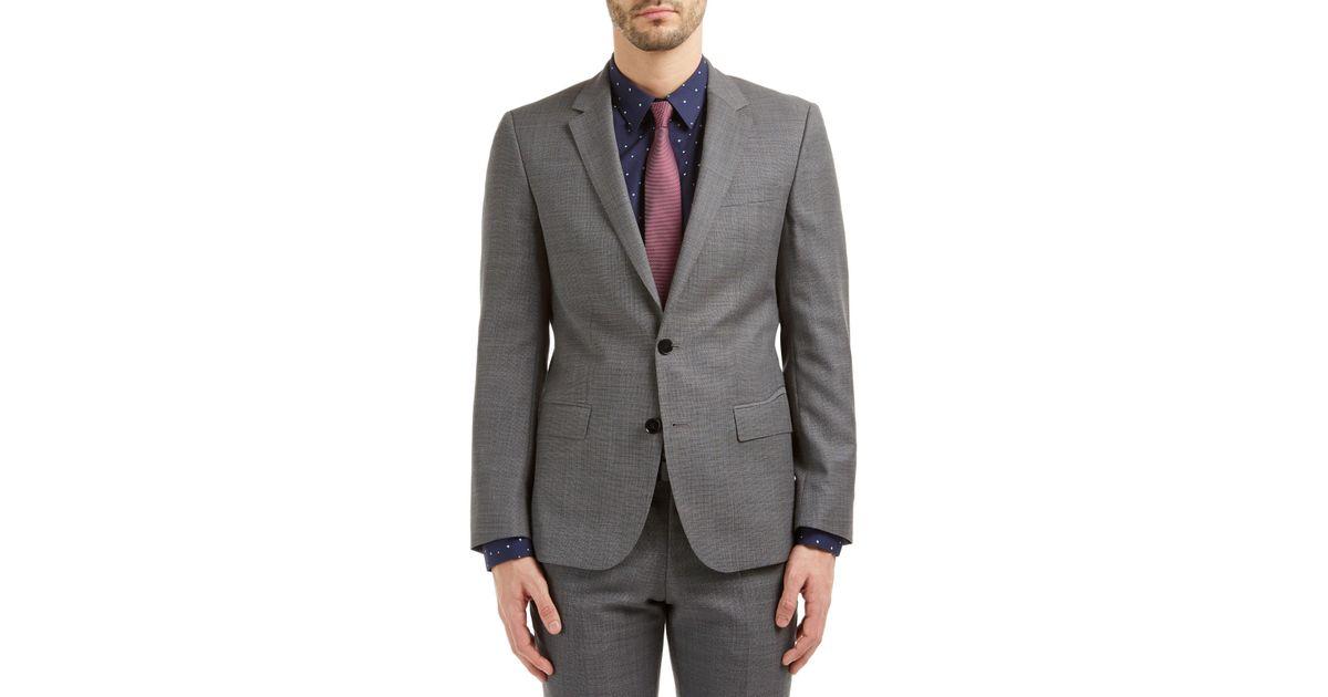 790efaa7fc1 BOSS Hugo By C-huge1 Hopsack Slim Fit Suit Jacket in Gray for Men - Lyst