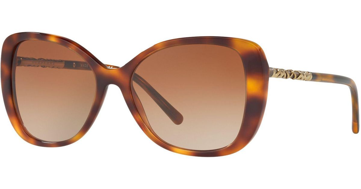 03442ab2342d Burberry Be4238 Cat s Eye Sunglasses in Brown - Lyst
