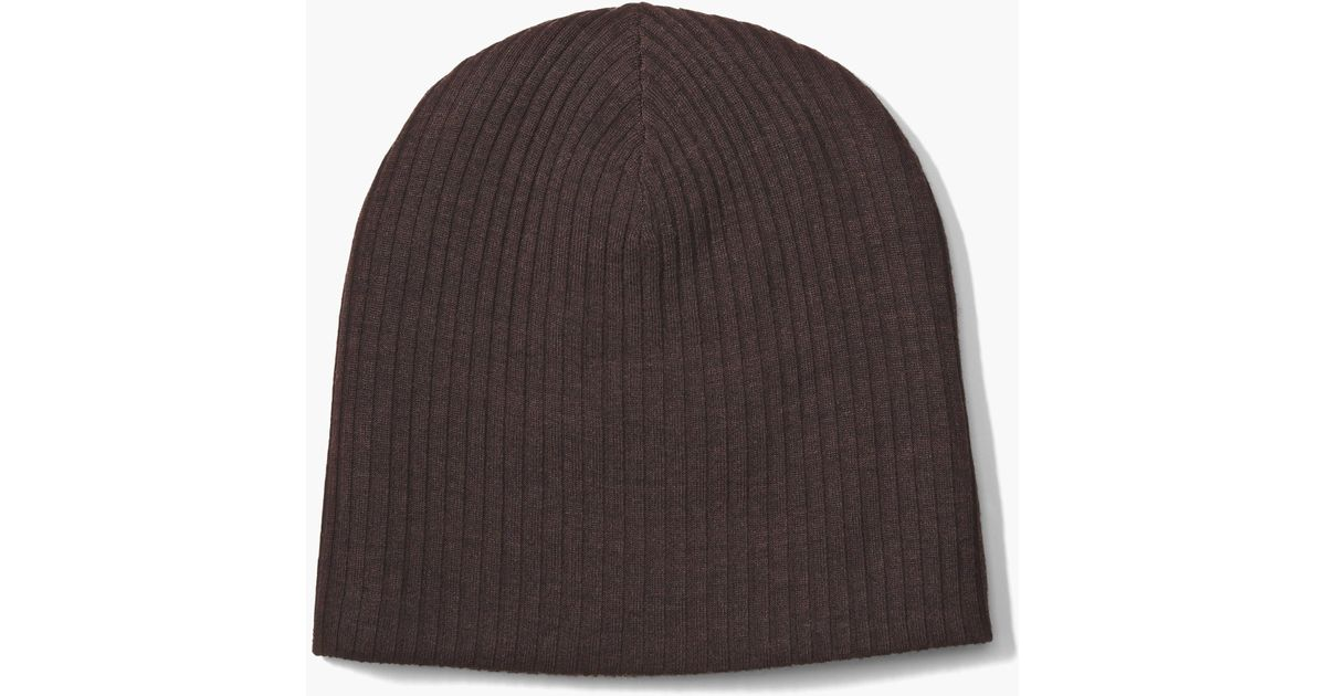 Lyst - John Varvatos Double Layer Beanie in Brown for Men a78fce184f0