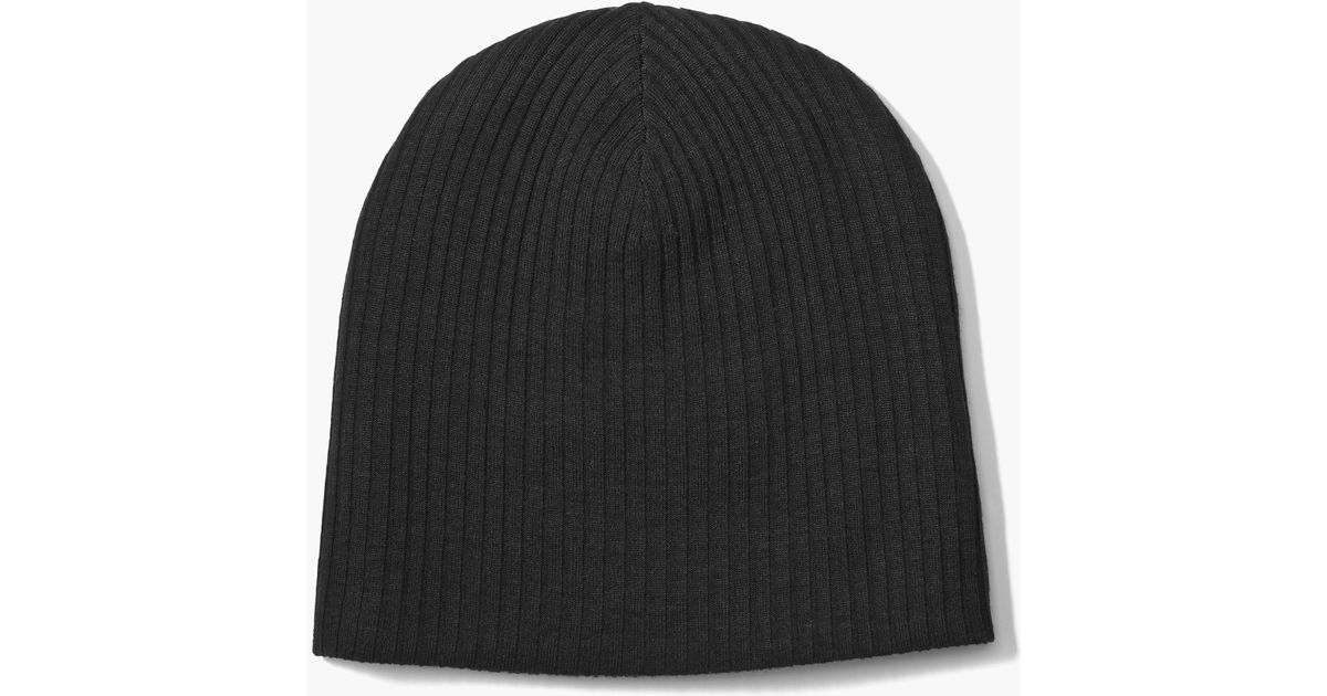 e2882258a John Varvatos - Black Double Layer Beanie for Men - Lyst
