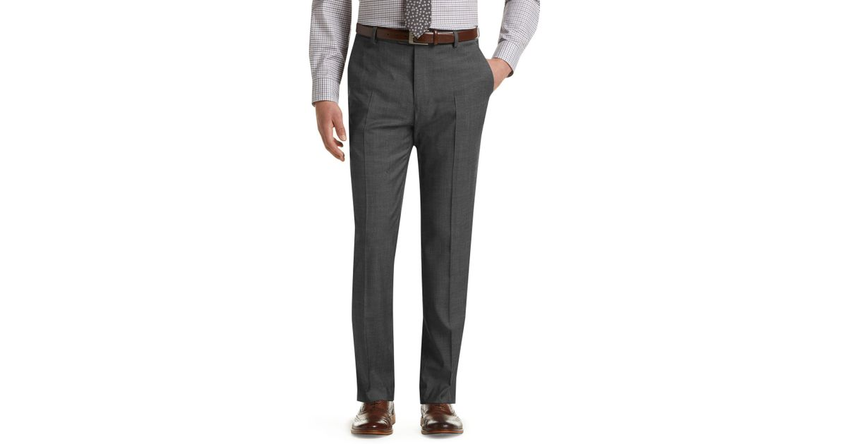 90986faf671 A. Bank Traveler Collection Slim Fit Flat Front Dress Pants - Big   Tall in  Gray for Men