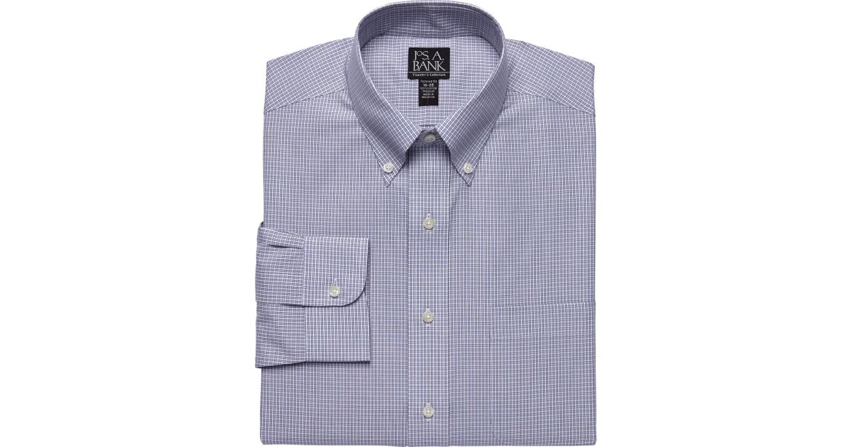 Lyst jos a bank traveler tailored fit button down for Joseph banks dress shirts