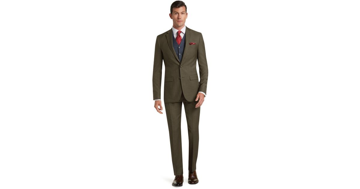 Lyst jos a bank traveler 39 s collection tailored fit for Jos a bank slim fit vs tailored fit shirts
