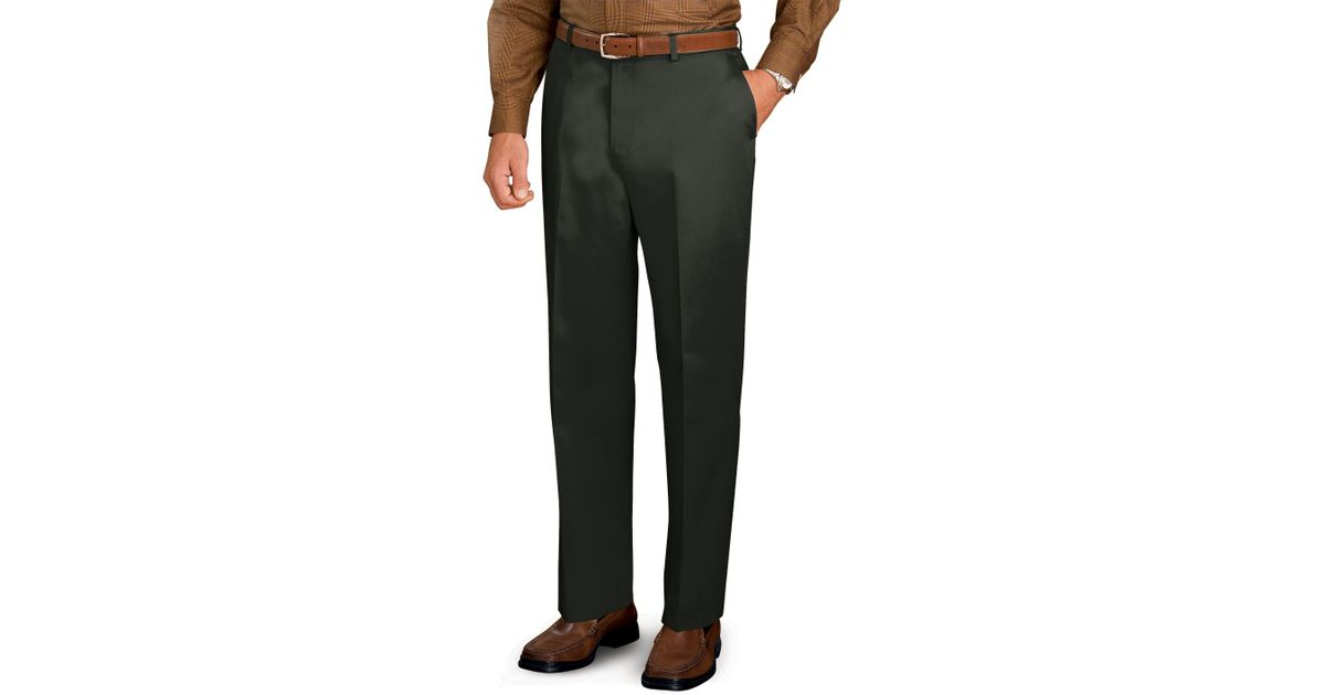 Jos a bank traveler plain front tailored fit khakis in for Jos a bank slim fit vs tailored fit shirts