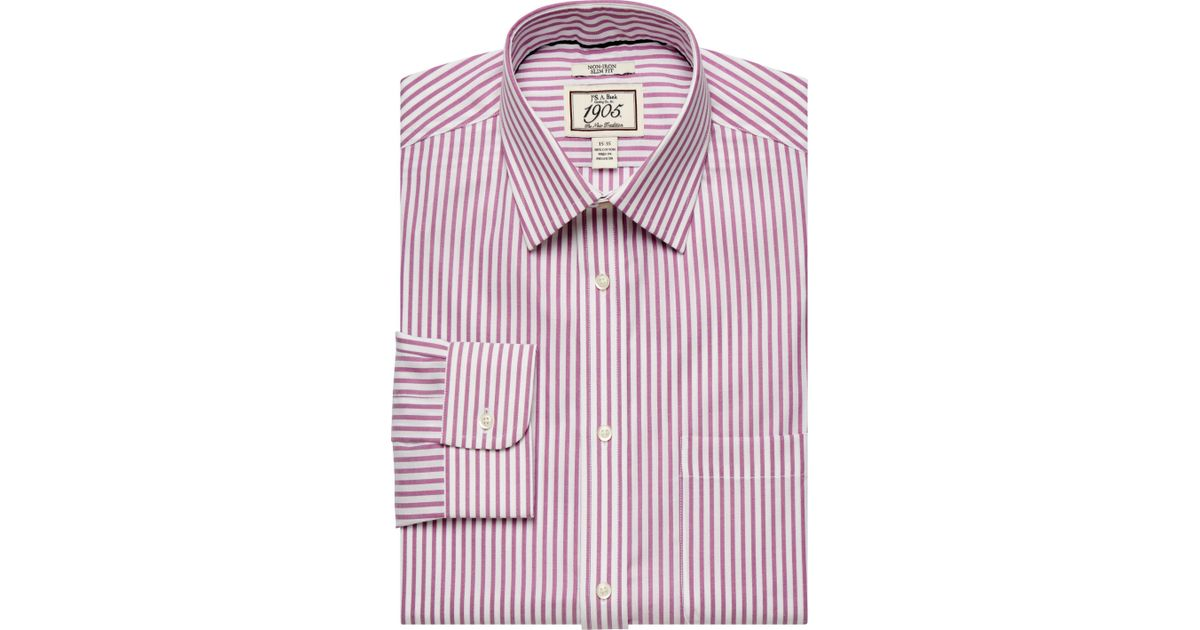 53acfd3726b37 A. Bank 1905 Collection Spread Collar Slim Fit Dress Shirt - Big   Tall  Clearance for Men