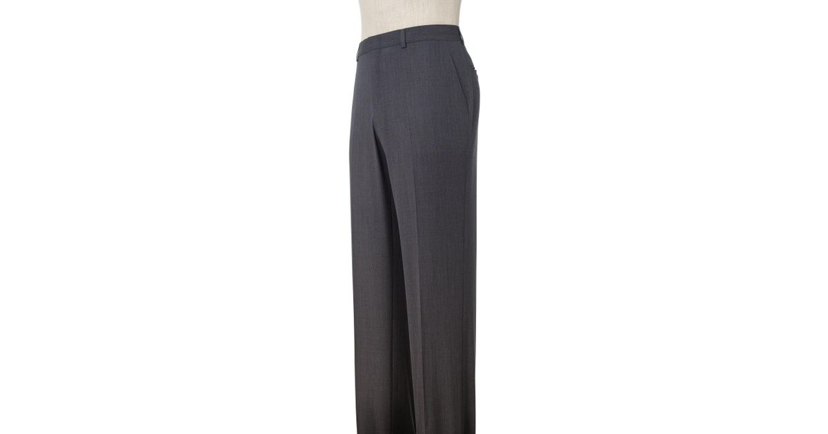 3d0521b709cf5a A. Bank Traveler Collection Tailored Fit Flat Front Washable Wool Dress  Pants Clearance in Gray - Lyst