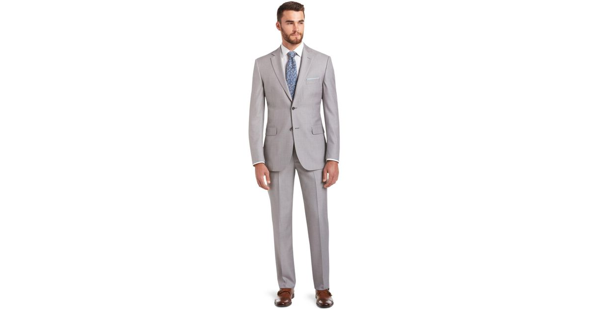 c8caaa35cfa Lyst - Jos. A. Bank Signature Collection Tailored Fit Suit in Gray ...