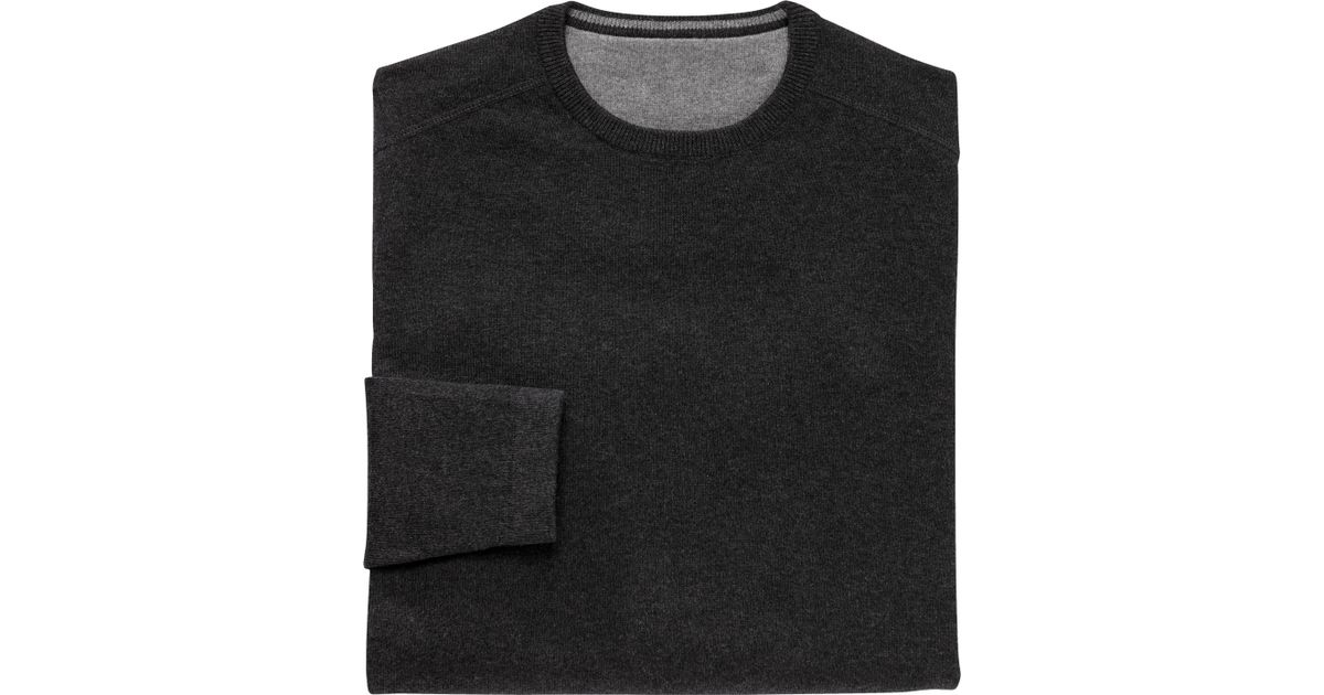 A. Bank Vip Collection Cotton cashmere Crewneck Sweater - Big   Tall  Clearance for Men 2a09fcedc