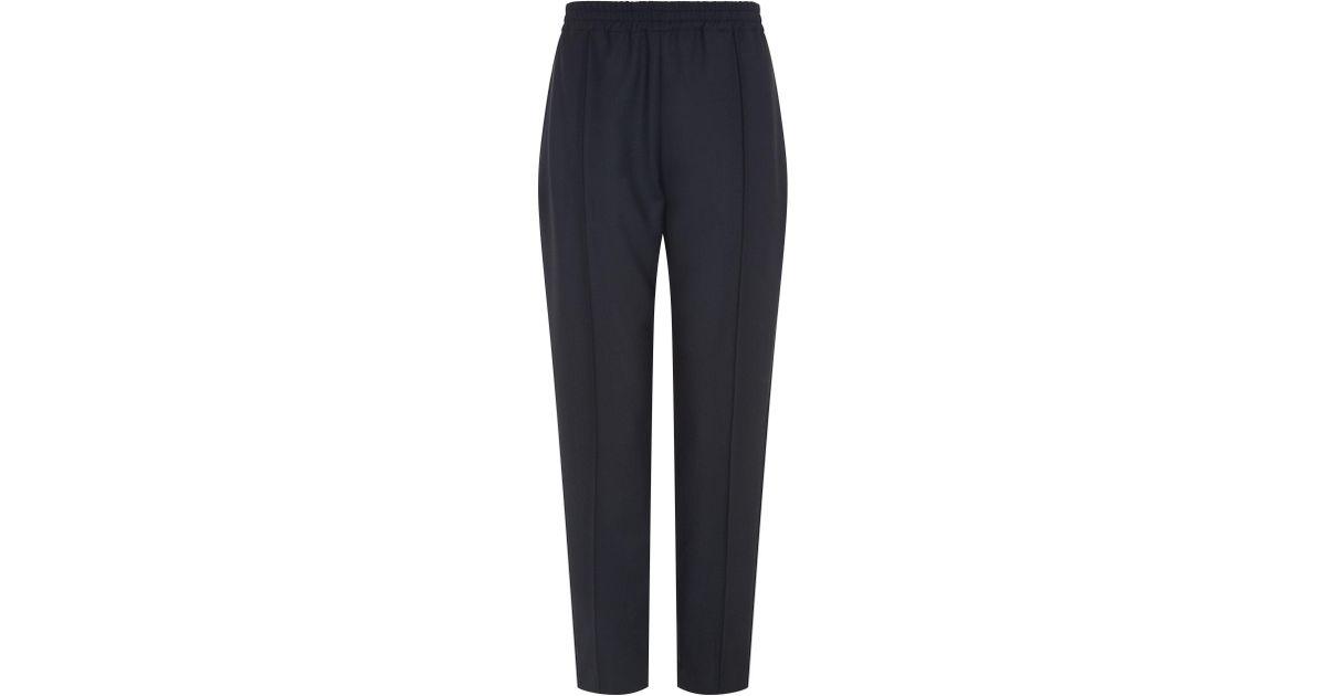 fa7b2a00b7d Lyst - JOSEPH Dalton Comfort Wool Trousers in Black