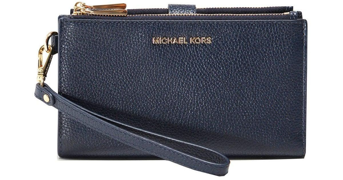 Michael Michael Kors Pebble Phone Wristlet in Blue - Lyst 38b9b3780b976